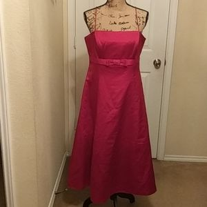 Satin Red Formal Dress